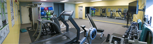 Exercise room at Lake Shore