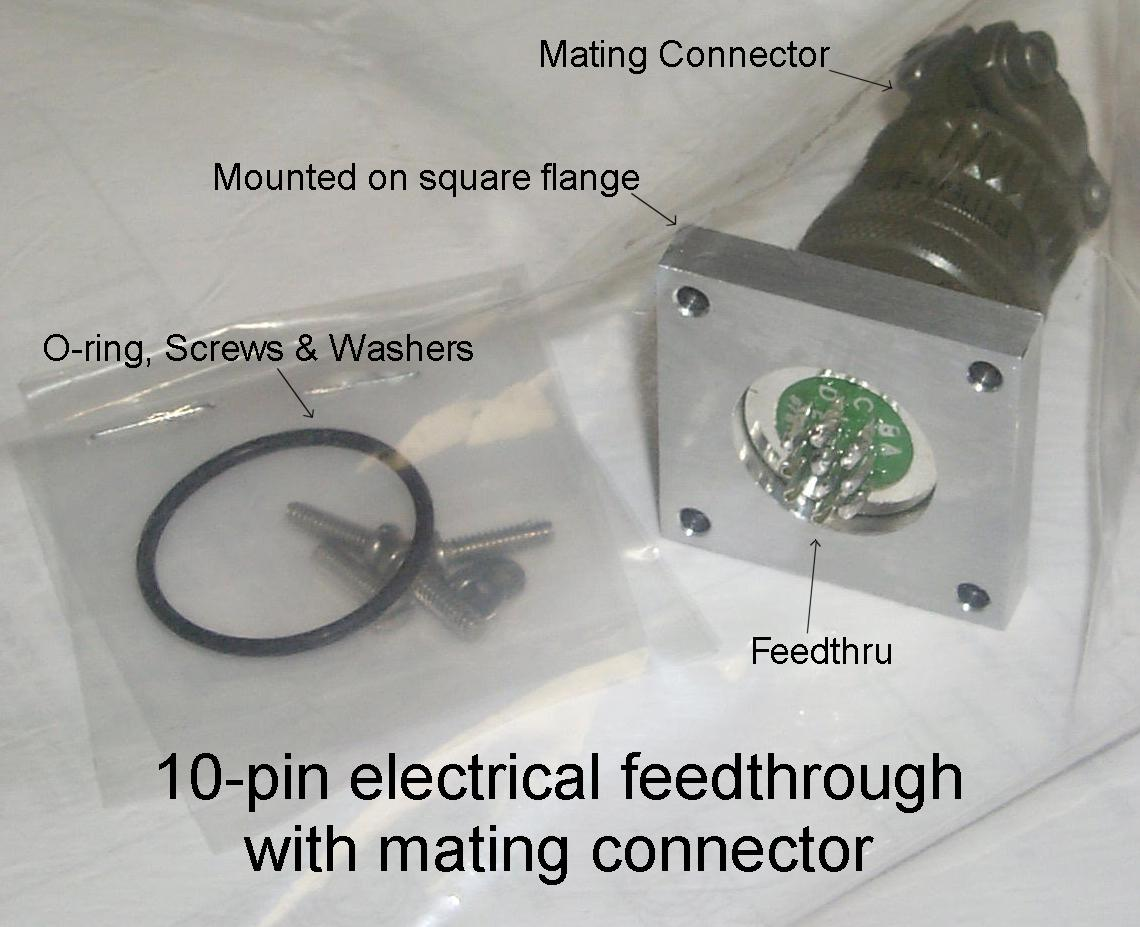 10-pin Electrical Feedthrough With Mating Connector