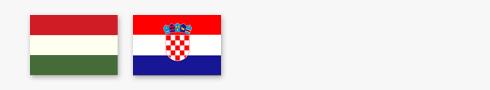 Hungary and Croatia