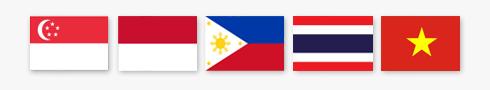 Singapore, Indonesia, Philippines, Thailand, and Vietnam