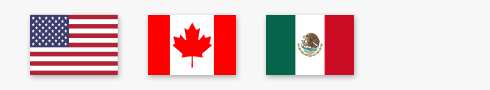 US, Canada, and Mexico