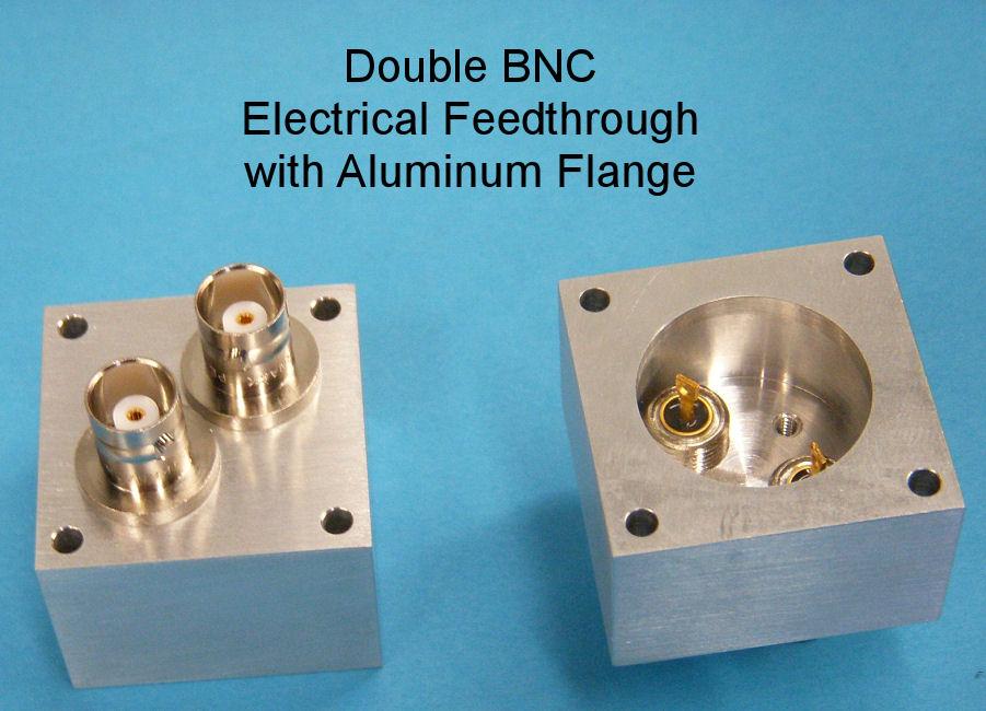 Double BNC Electrical Feedthrough Al Flange