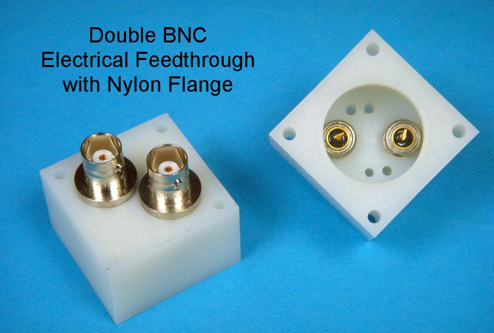 Double BNC Electrical Feedthrough Nylon