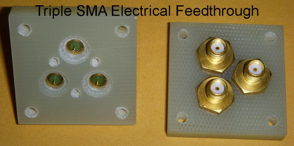 Triple SMA Electrical Feedthrough