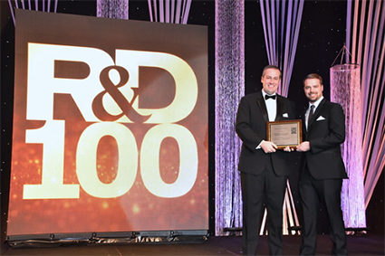 Adam Porsch and Adam Anderson Accept R&D 100 Award