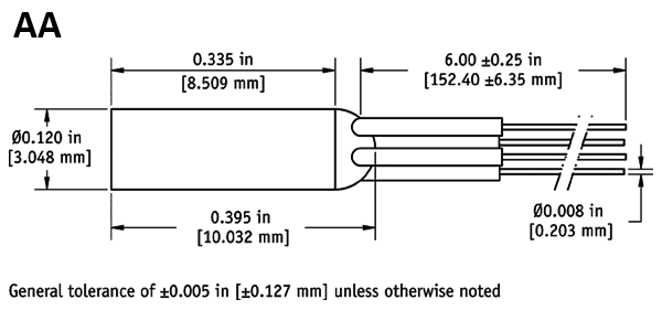 AA dimensions