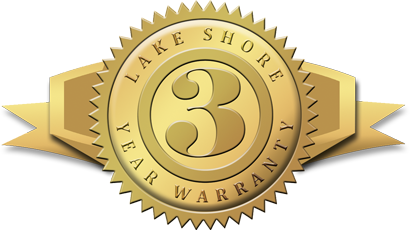 The Lake Shore 3-year warranty